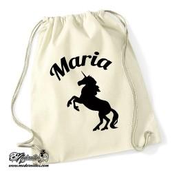 Bolsa Algodón unicornio + nombre